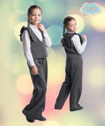 Костюм для девочки: брюки и жилет