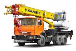 Автокран Ивановец КС-45717К-1 на шасси КамАЗ-65115 (6х4, г/п 25 т, вылет 21,3 м)
