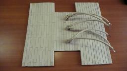Плоский нагревательный элемент из наборной керамики