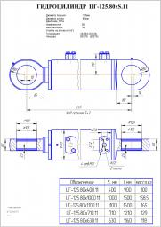Гидроцилиндр опоры цг-125х80х400.11 эо-3323а, ек-14, 18
