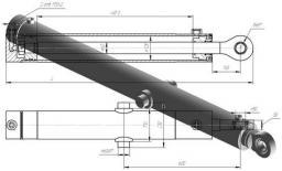 Гидроцилиндр подъем отвала ГЦ 125.60*800.31 ДЗ-98