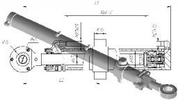Гидроцилиндр подъема отвала Б-10, Б-12 ГЦ-100х63х1250.31