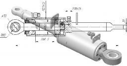 Гидроцилиндр перекоса отвала Т-130, Т-170, Б-10, Б-12 160х80х200