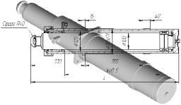 Гидроцилиндр опоры (вывешивание крана) ГЦ-125х100х580 КС-45717
