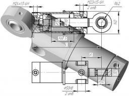 Гидроцилиндр поворота стрелы для ЭО-2621, ЭО-2626