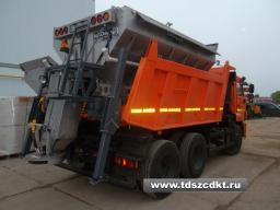 КДМ ЭД-405А1 на самосвале КамАЗ-65115 (ПС (нерж))+ комб.и средн. отвал+щетка