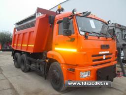 КДМ ЭД-405А1 на самосвале КамАЗ-65115 (ПС (нерж)) + скоростной и средний отвал + щетка