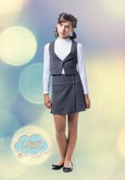 Школьная юбка и жилет для девочки
