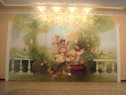 Настенная живопись, интерьерная живопись, рельефная роспись, роспись стен