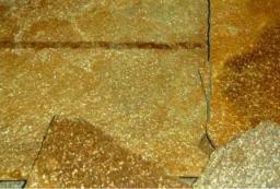 Златолит желтый с блеском.Толщина 1,5- 2,5 см