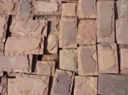 Плитка из натурального камня, красный песчаник скол 100*150 мм