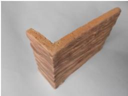 Жаростойкая керамическая плитка Скол дерева Макси угловая