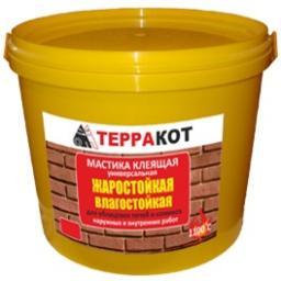 Мастика клеящая влагостойкая жаростойкая «Терракот», 5 кг