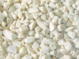 Щебень мраморный белый 5-10 мм, в мешках по 40 кг