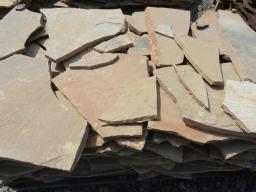 Камень для дорожек Песчаник желтый 3 см.