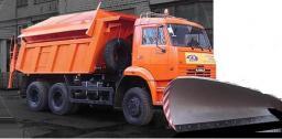 Дорожная машина КДМ ЭД-405А2 на базе самосвала КАМАЗ 65111 (6х6, зима)