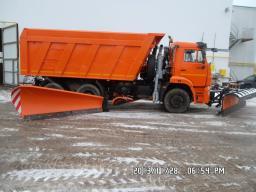 Дорожная машина КДМ-7881 на базе самосвала КамАЗ-6520 с двигателем Евро-3