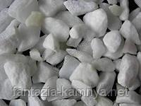 Щебень мраморный белый 5-10 мм, в МКР