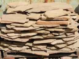 Камень для дорожек песчаник желтый. Толшина 2,5-3,5 см.