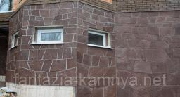 Камень для облицовки стен фасадов песчаник шоколадка (красный). толщина 1,5-2,5 см.