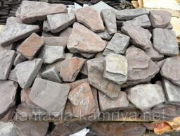 Камень галтованный песчаник красный для дорожек