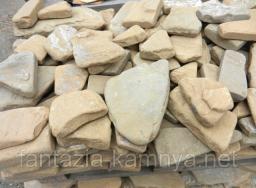 Камень галтованный песчаник желтый