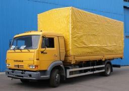 Бортовой КамАЗ-4308-6063-28 с тентом (4х2, гп 5,48 тонны) удлиненная