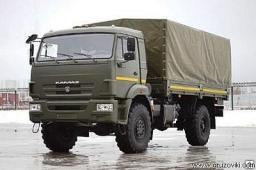 Бортовой с тентом КамАЗ-43502-6023-14 (Двигатель Камминз, 275 л.с., Евро-4)