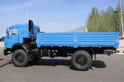 Бортовой с тентом КамАЗ-43502-6024-45 с двигателем КамАЗ (260 л.с., Евро-4)
