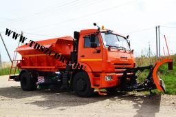 Пескоразбрасывающая машина ЭД-244К на шасси КамАЗ-43253 (Объем бункера 5 куб/м)