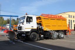 Дорожная машина КДМ на базе МАЗ-6501В5 с Пескоразбрасывающим оборудованием