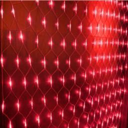 Гирлянда Сетка 2x1.5м, 192 LED, красный, контроллер в комплекте