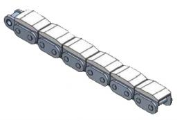 Roller chains with rubber roof with Plastic Components