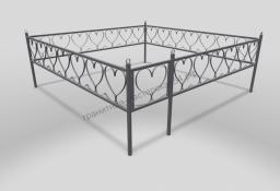 Ограда ОМТ 007 прямоугольная труба Silver
