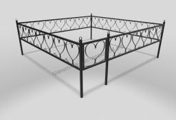 Ограда ОМТ 007 прямоугольная труба Black
