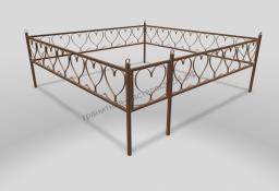 Ограда ОМТ 007 прямоугольная труба Bronze