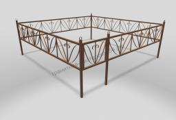Ограда ОМТ 009 прямоугольная труба Bronze