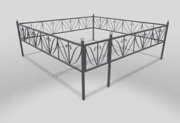 Ограда ОМТ 009 прямоугольная труба Silver