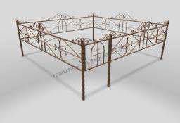 Ограда ОМТ 010 витая труба Bronze