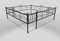 Ограда ОМТ 010 прямоугольная труба Black