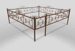 Ограда ОМТ 011 прямоугольная труба Bronze