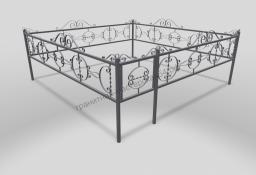 Ограда ОМТ 011 прямоугольная труба Silver
