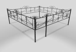 Ограда ОМТ 012 витая труба Black