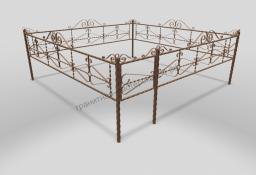 Ограда ОМТ 012 витая труба Bronze