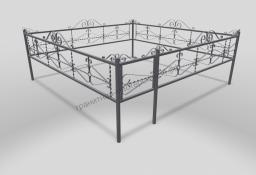 Ограда ОМТ 012 прямоугольная труба Silver