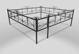 Ограда ОМТ 012 прямоугольная труба Black