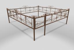 Ограда ОМТ 012 прямоугольная труба Bronze
