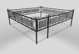 Ограда ОМТ 013 прямоугольная труба Black