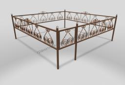 Ограда ОМТ 015 прямоугольная труба Bronze