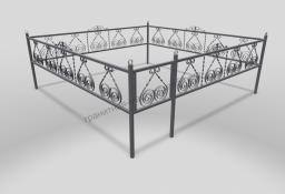 Ограда ОМТ 015 прямоугольная труба Silver